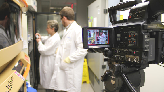 Filming in the Lab, Research Triangle Park, NC